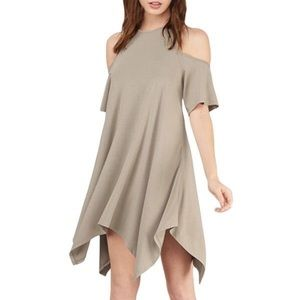 Dresses & Skirts - Cross Back Cold Shoulder Short Sleeve Midi Dress